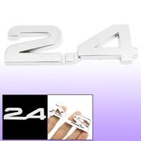 Wholesale Car Autos Alloy Decal Emblem D Badge Sticker Decor Silver Tone