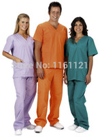 Regular medical scrubs - 2014 New unisex hospital medical scrub clothes uniform set for surgical doctor