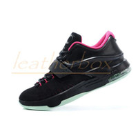 Low Cut Men  Hot!!Basketball Shoes KD 7 EP VII Aunt Pearl Men Low Abrasion Hornors Sports Training Sneaker Running Shoes Size 40-46