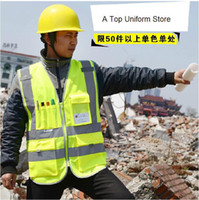 Wholesale Unisex high quality high visibility safety reflective vest for road construction workers safety work clothes in night
