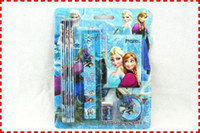 Wholesale AAAAA Transparent Frozen Pencil sets case pen frozen stationery Frozen School Exam Pencils Pouch For Elsa FROM CHINA