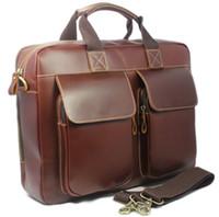 Soft Bags full grain leather - High Class Men Brown Italian Full Grain Leather Genuine Leather tote Briefcase Shoulder Bag Messenger quot Laptop Bag