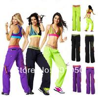 Wholesale woman dance pants CARGO PANTS yoga clothing cut me loose