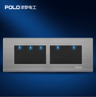 Wholesale POLO Gang Way luxury wall switch panel MM MM LED panel Light switch Tap switch V