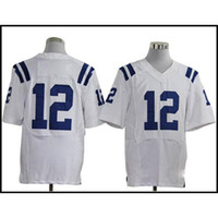 Wholesale American Football Jerseys Andrew Luck White Elite Football Shirts Custom Football Jersey Mix Order New Cheap Football Sportswear
