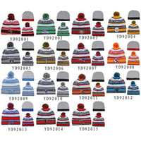 Wholesale Football Beanies All Teams Pom Pom Beanies New Arrival Skull Caps Fashion Knitted Beanie Caps Top Winter Caps Cool Beanie Hat for Cheap