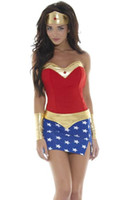 Wholesale High Quality Hot Popular Halloween Costumes For Women Sexy Wonder Woman Costume PP1221