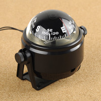 Wholesale Fixable And Rocking Lensatic vehicle borne type car Compass With High Quality Outdoor Camping Survival Tool LC550 with light