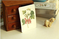 Sample Retail boxed greeting cards - vintage plant of mitli purpose mini postcard tin box set Christmas Card Greeting Card Postcard Gift