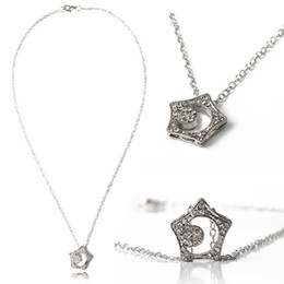 Wholesale Hot Selling Crystal Star Hollow Moon Necklace Drama Boys Over Flowers Love Token Drop Shipping