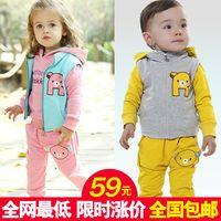 Wholesale Christmas Children s clothing kids child autumn clothes baby child clothing set jacket pants years boys girl dress