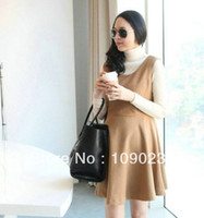 Wholesale new arrival maternity clothes cotton twinset one piece dress for the pregnant women long sleeve clothing
