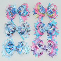 Lace hair ribbon - quot Baby Ribbon Hair Bow Frozen Hair Bow For Baby Boutique Frozen Hair Bow Children Hair Accessories