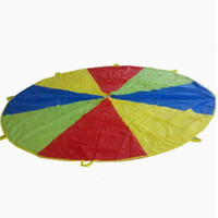 Wholesale PLAY PARACHUTE DIA3M WITH HANDLES FOR KIDS PRESCHOOL GMAES RACING GAMES AND BABY TOY BIRTHDAY GIFT