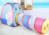 Tents Animes & Cartoons Cloth Wholesale-Elephant Kids Games Game Play Tent Children House for Kids Child Children's Play Tents Tunnel Tent Playhouse Free Shipping