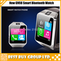 Wholesale Best GV08 smart watch phone with Mp spy camera quot touch screen bluetooth new unlock watch mobile phone
