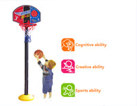 Cheap Wholesale-2014 New Baby Children Sports Toys Set Basketball Stands with Tie Pump Outdoor & Indoor Toy Drop Shipping 115cm 1-3 Years