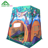 Wholesale Graphic Pattern AOLE HW Kids Tent Animal Child Play House Toys Children Playing Indoor and Outdoor Play House with Play Mat