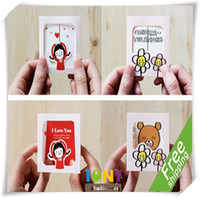 Wholesale Cute Girl D Greeting Cards Envelopes Stationery Gift QT005