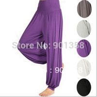 Women Bamboo Fiber Pants 1pc dropshipping lulu yoga Yoga Pants Belly dance pants dancing costume tribal harem latern cotton yoga pants, women's yoga wear
