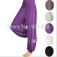 Women Bamboo Fiber Pants 1pc dropshipping lulu yoga Yoga Pants Belly dance pants dancing costume tribal harem latern cotton yoga pants, women's yoga wear