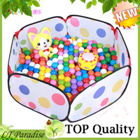 Tents Animes & Cartoons Polyester Wholesale-AOLE-HW Kiddies Toys Ball Pool Game House for Children Eco-friendly Kids Indoor Tent Ball Pool Toy House Outdoor Fun & Sports
