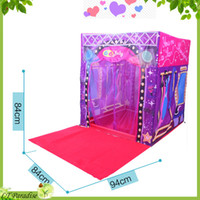 Tents Animes & Cartoons Polyester Wholesale-AOLE-HW Fashion Super Star Stage House Tent for Kids Toy House with Mat Outdoor Child Tent Game House Kiddies Toys Brinquedo