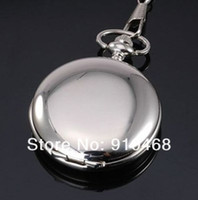 Wholesale Brilliant Glossy Silver Case Quartz Pocket Watch Necklace Ladies Pocket watch Gift Wacth High Quality