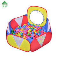 Wholesale AOLE HW Ocean Ball Pool with Tunnel Tube Door Three color Children s Play House Educational Toys for Kids Child Tent Game House