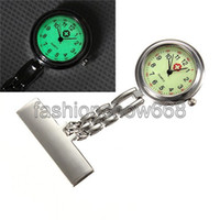 Wholesale Luminous Glow in Dark Stainless Steel Analog Nurse Fob Silver Fluorescent Noctilucent Quartz Pocket Watch