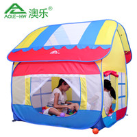 Tents Animes & Cartoons Polyester Wholesale-Three-color Portable Color children's Game Room play house large Toy Tent Indoor &Outdoor kids Tasteless ball pool 20*120*140cm