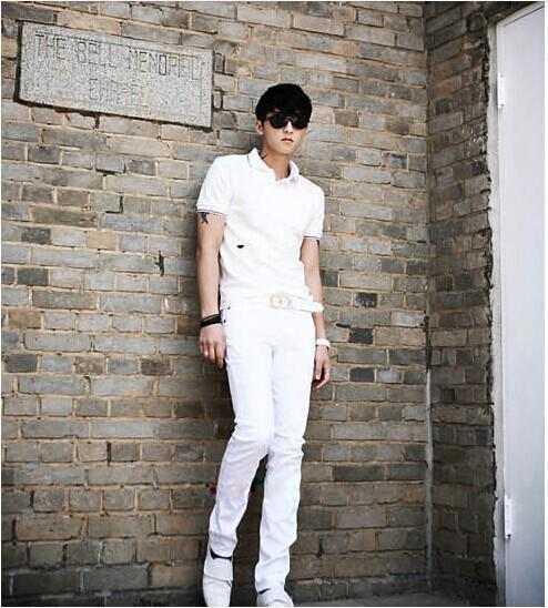 Wholesale-sale !white Color Men Pencil Pants Men Skinny Jeans Men ...