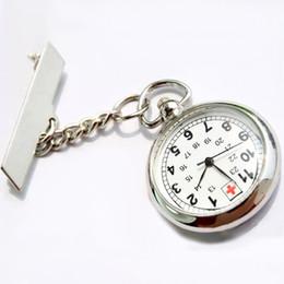 Wholesale Antique Hot Sale Stainless Steel Medical Doctor Brooch Fob Quartz Cross Nurse Silver Pocket Watch XMPJ089