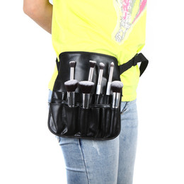 Wholesale High quality PVC Professional Cosmetic Makeup Brush Apron Bag With Artist Belt Strap Professional Bag Holder H9883
