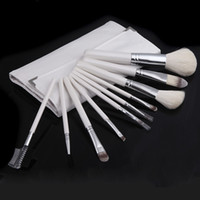 H10542 best cosmetic brushes - Top Best Professional Soft Cosmetic Nylon Hair Make up Tools Makeup Brushes Sets Kit with Folding White Case H10542