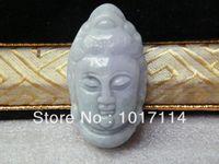 Wholesale promotion natural Burma jade Buddha pendant necklace carved head