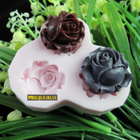 Wholesale Cake tools hole rose flower Arylic Resin Flower silicone mold fondant molds sugar craft tools chocolate mould soap candle molds for cakes