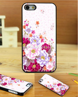 For Apple iPhone Plastic Black cute girl beautiful flowers Leopard Style Print On Pu Cross Pattern Leather Hard Black Cover Case for iphone 4 4s 4g 4th 1PC