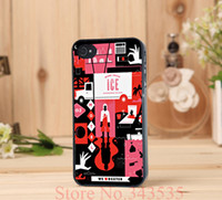 Wholesale The Motel Dexter style Print On Pu Cross Pattern Leather Hard Black Cover Case for iphone s g th PC