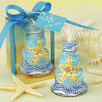 Wholesale 2014 New Romantic Wedding Birthday Party Candle Creative Starfish Cake Candle Small Birthday Gift