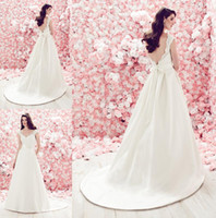 Cheap A-Line A Line Wedding Dresses Best Reference Images V-Neck Lace Bridal Gown