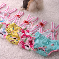 Wholesale lovely pets straps physiological pants sexy dog pajamas clothes cheap dog clothes diaper for cats pet supplies CA806