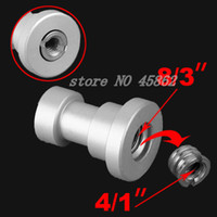 Wholesale quot and quot Female Threaded Tripod screw Adapter to Light Stand Convert Screw