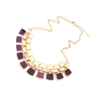 Wholesale Artilady punk style gold plated layer necklaces pendants Beautiful crystal pendant for women party jewelry