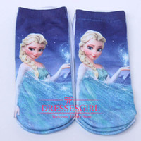 Wholesale New Winter Frozen Socks Princess Anna Cute Lovely Cartoon Little Girls Short Leggings Ankle Socks The Best Wedding Favors To Kids