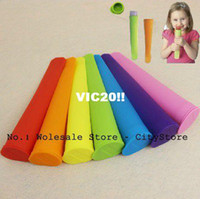 Ice Cream Tubs Silicone ECO Friendly Free Shipping 200pcs lot Non-sticky silicone ice pop maker silicone ice pop mold Push Up Ice Cream Lolly Pop For PopsicleLPPP