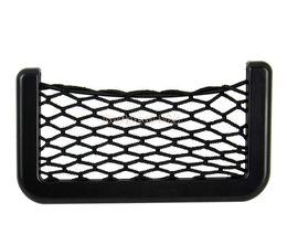 Wholesale Fashion car storage X8cm Automotive Bag With Adhesive Visor Car Net Pack Organizer Pockets Net b11