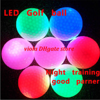 Wholesale LED Red Blue green white Flashing Golf Ball Luminous LED Golf Balls Luminous