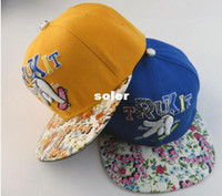 Wholesale New Fashion Unsex Finger Baseball Caps Hip Hop Cap Skateboard Hats Sport Flat Brimmed Cap