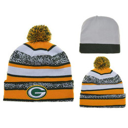 Wholesale Packers Beanie Hats Cheap Football Pom Pom Beanies Cool Football Hats New Hot Beanies Knitted Caps Skull Caps Popular Team Hats Beanie Caps